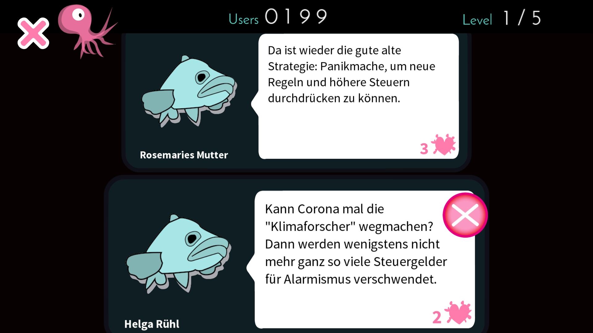 Kommentare in Moderate Cuddlefish