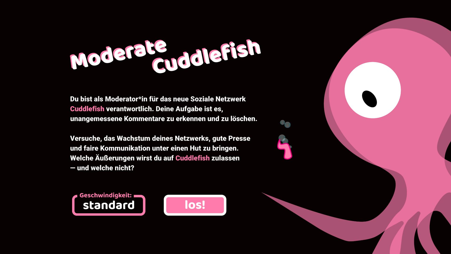 Medienfeedback in Moderate Cuddlefish bei rechter Moderation
