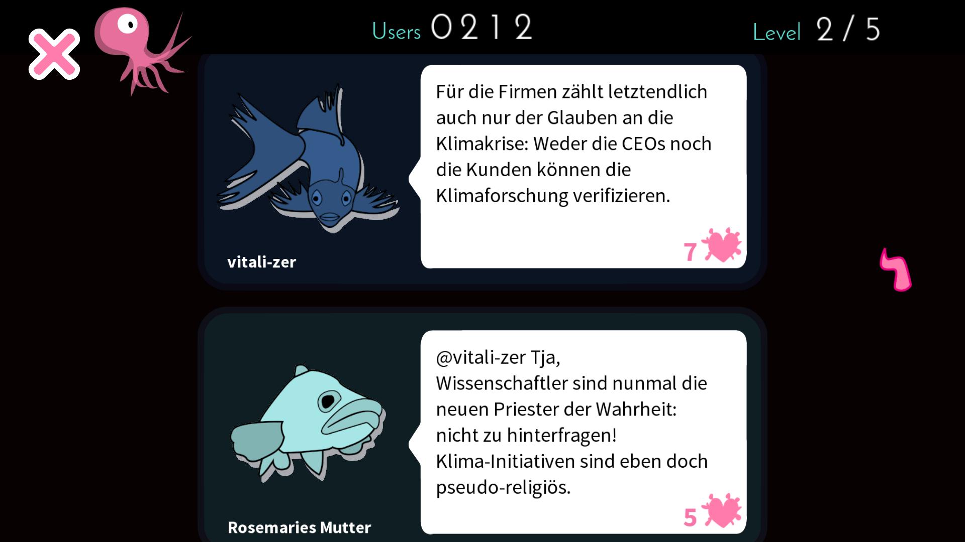 Ergebnisanzeige in Moderate Cuddlefish